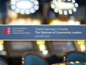 Casino Gaming in Canada: The Opinions of Community Leaders Report (2015)